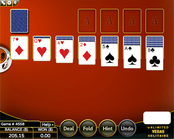 Screen Shot - Lucky99 Mini Game - Vegase Solitaire