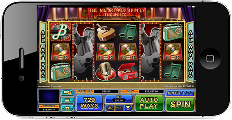 Casino Game Mobile Screen